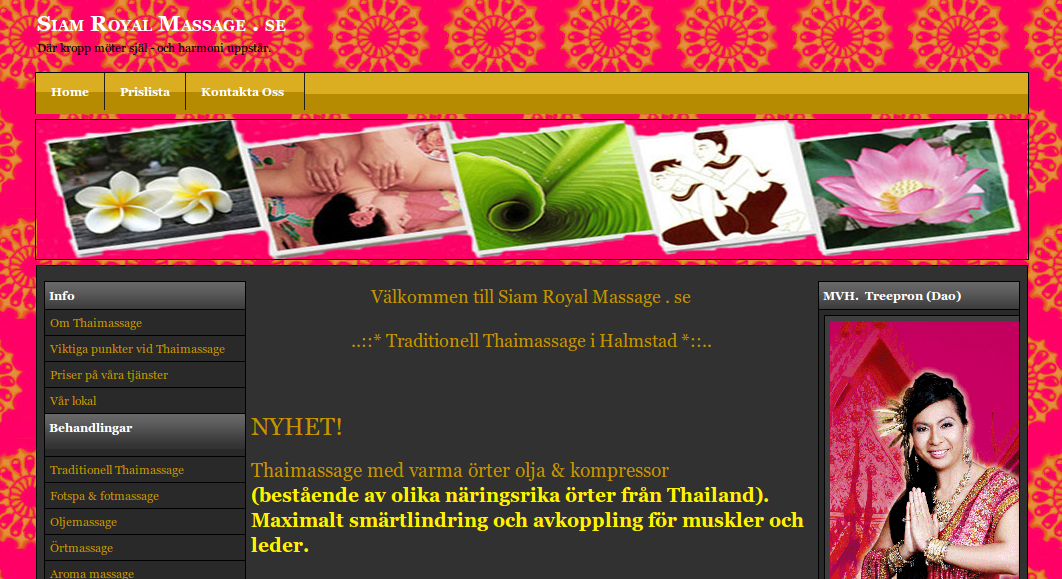 siam royal thai massage massage alingsås